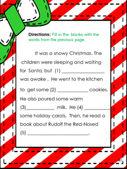 Funny Christmas Stories.Christmas Funny Fill In Story Mad Libs Style
