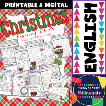 Christmas Funny Worksheets for ELA centers (Pre-K/1st Grade)