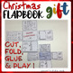 Christmas GIFT flapbook CUT, FOLD and GLUE