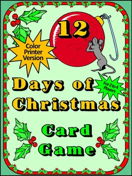 Christmas Game Activities: 12 Days of Christmas Card Game Activity Packet