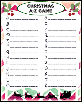 Christmas Words A Z.Christmas Game A Z Word Game Download
