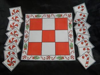 Christmas Game Activities: Christmas Tic-Tac-Toe Games Activity Bundle - Color
