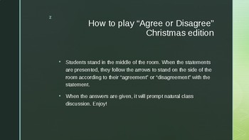 Christmas Game! Agree or Disagree- Fun Christmas Facts! Classroom Games!