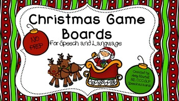Christmas Game Board Bundle for Speech and Language NO PREP
