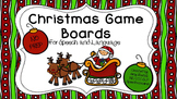 Christmas Game Boards for Speech and Language NO PREP