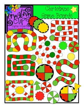 Christmas Clipart Game Boards {Creative Clips Digital Clipart}
