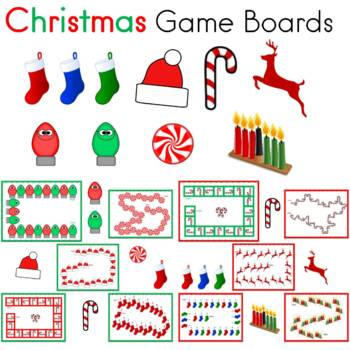 Christmas Game Boards for Centers     (20 Game Boards)