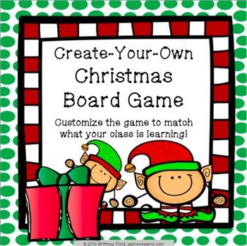 Christmas Game: Customizable Christmas Activity