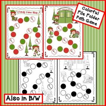 Christmas Game Long A:  Candy Cane Shop! {EDITABLE}