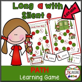 Christmas Game Long A:  Candy Cane Shop! {EDITABLE}