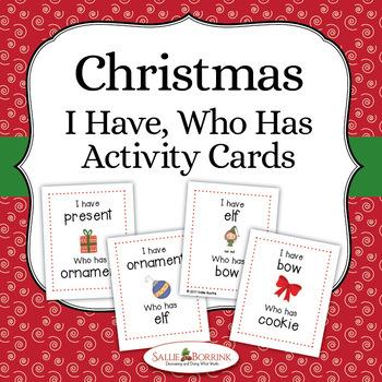 Christmas Game - I Have, Who Has