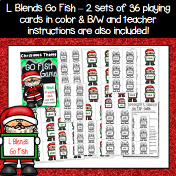 Christmas Game - L Blends Go Fish Game