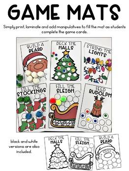 Christmas Activities | Editable Christmas Game Mats