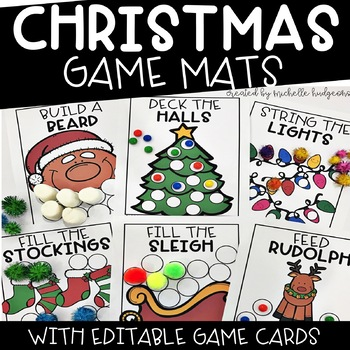 Christmas Activities | Editable Christmas Game Mats