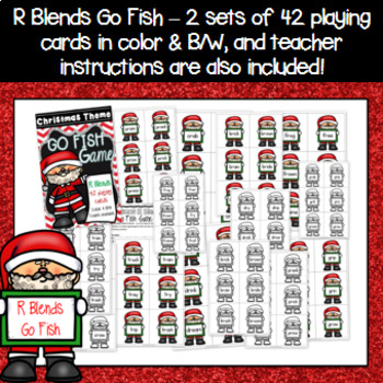Christmas Game - R Blends Go Fish Game