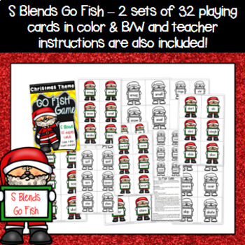 Christmas Game - S Blends Go Fish Game