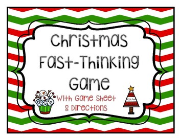 Christmas Game: Scattergories for Grades 3-12