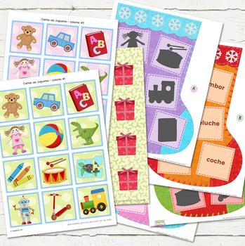 BUSCA LA PAREJA! - Juego de Navidad /  Toys Word Match Game in Spanish