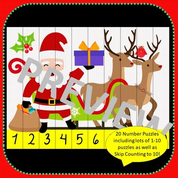 Christmas Games BUNDLE Bingo and Number Puzzles including Skip Counting