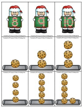 Christmas Games Number Cards 1-10  Use for Old Maid, Memory, Go-Fish & War!