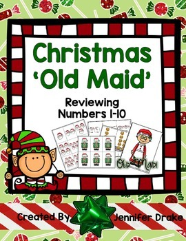 Christmas Games Number Cards 1-10  Use for Old Maid, Memor