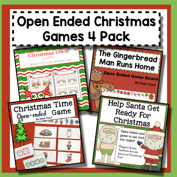 Christmas Games Open Ended 4 Pack