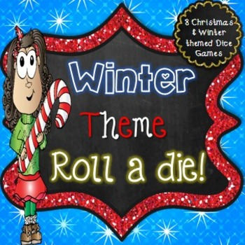 Winter Literacy Center - Roll a Die Activities