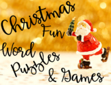 Christmas Games & Word Puzzles! 12 Fun & Engaging Activities