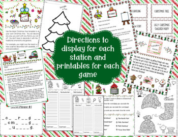 Christmas Games & Word Puzzles BUNDLE!