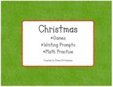 Christmas: Games, Writing, and Math