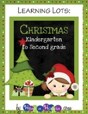 Christmas Games and Activities for Kindergarten, First, and Second  grades