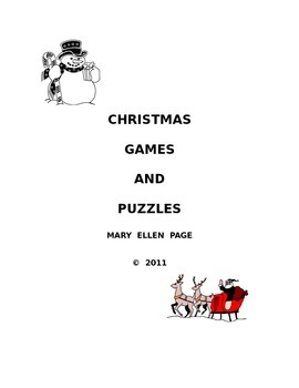 Christmas Games and Puzzles (English)  (revised)
