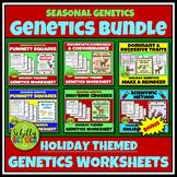 Christmas Genetics Worksheet Bundle