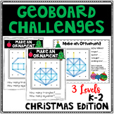 Christmas Geoboard Geometry Challenges - Holiday Task Cards-Fine Motor Skills