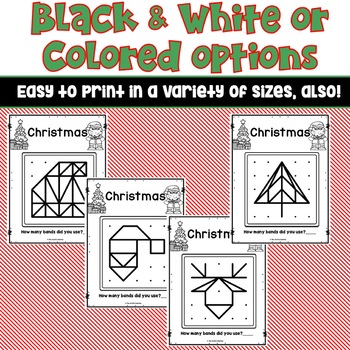 Christmas Geoboard Task Cards
