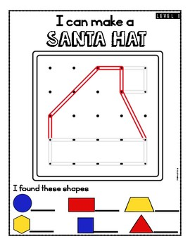 Christmas Geoboards Task Cards and Mats