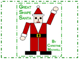 Christmas Geometric Shape Santa 2D Shapes
