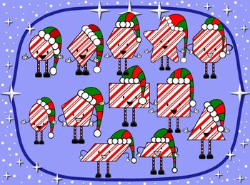 Christmas Geometrical Figures wearing hats- Math-Geometry
