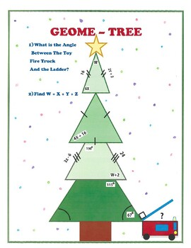Christmas Geometry Math Activity Angles of Triangles and Quadrilaterals