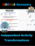 Christmas Geometry Activity Transformations Winter Theme Google DistanceLearning
