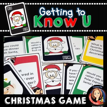 christmas getting to know you card game - Christmas Card Games