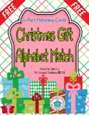 Christmas Gift Alphabet Matching 2-Part Cards  {FREEbie}