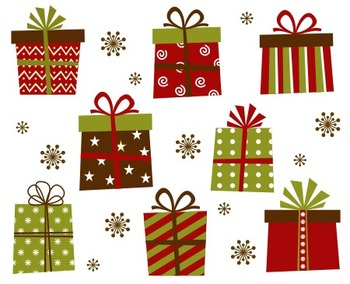 Christmas Gift Boxes Clip Art