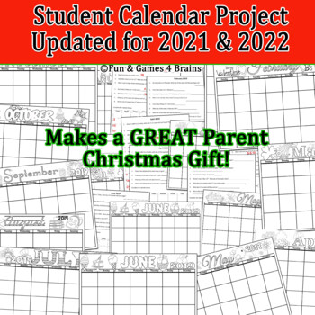 Christmas Gift Calendar Project-Perfect way to learn calendar skills!