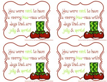 Christmas Gift Card Tag for Students