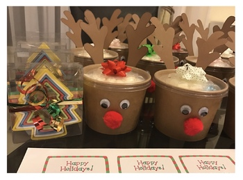 Christmas Gift For Students: Reindeer Treat Tubs! FREE TEMPLATE!!!