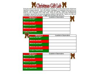 Christmas Gift Lab Activity