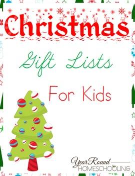 Christmas Gift List for Kids