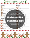 Christmas Gift Planning Worksheet for Need, Want, Wear, Read
