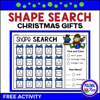Christmas Gift Shape Search Freebie